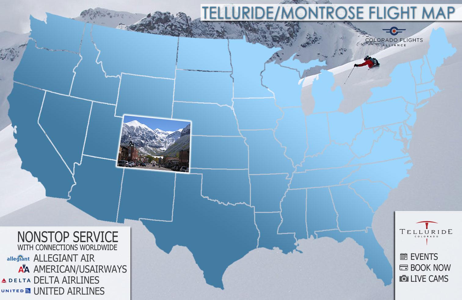 Summer Flight Map | Colorado Flights on